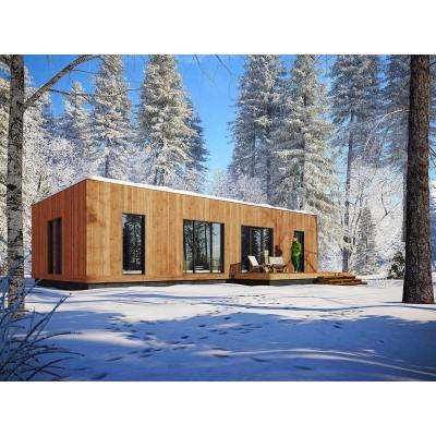Modulares Haus 5+kk mit einer Terrasse